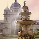 Fountain, Royal Exhibition Buildings, Melbourne by Roz McQuillan