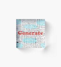 Generate Acrylic Block