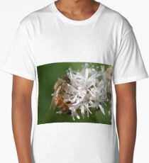 Honey bee and Mtn Coyote Mint, Lassen Volcanic NP, California  Long T-Shirt