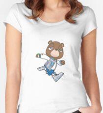 Kanye Graduation Bear Women's Fitted Scoop T-Shirt