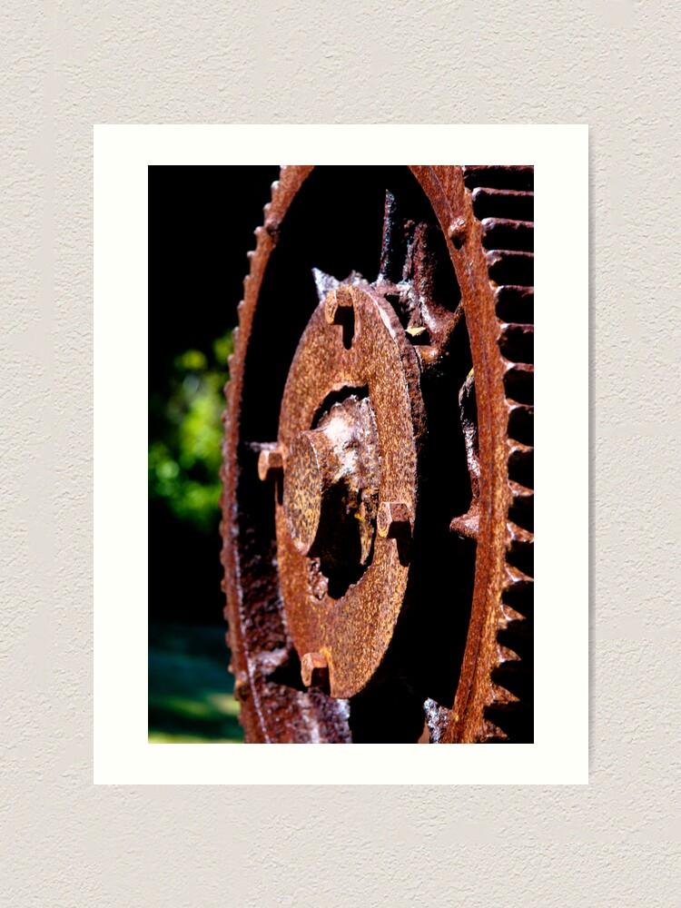 Alternate view of Rusty cog Art Print