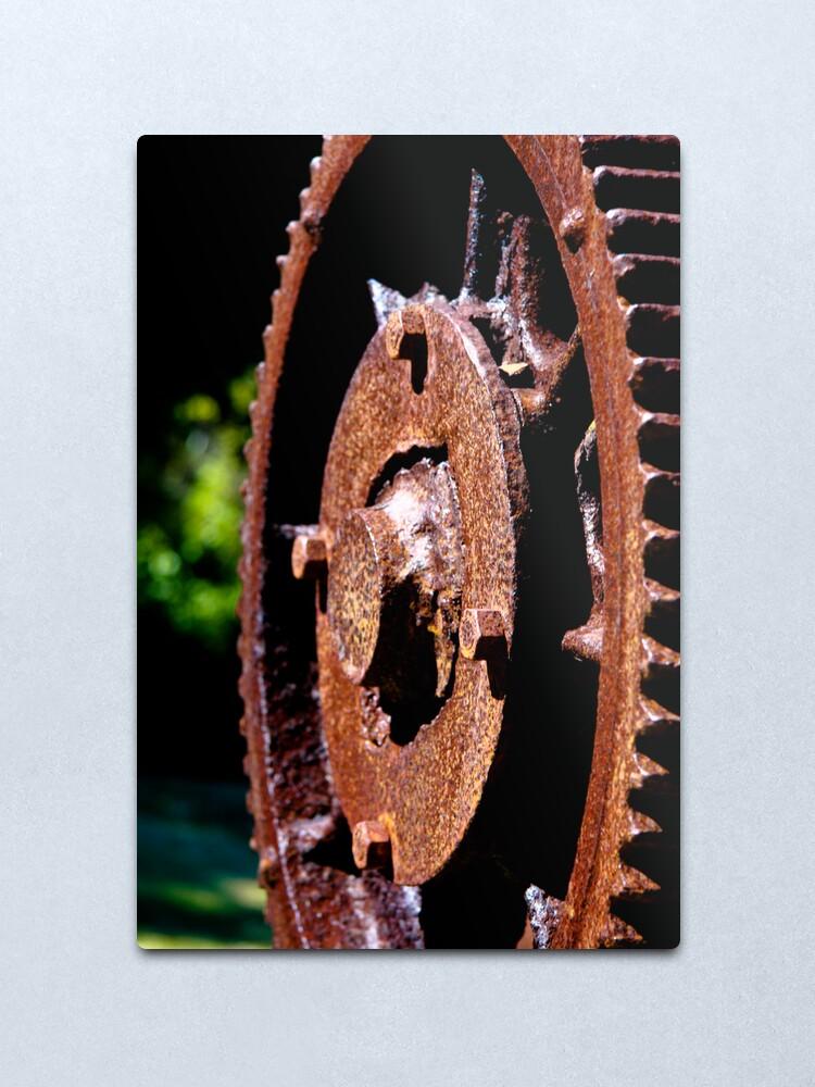 Alternate view of Rusty cog Metal Print