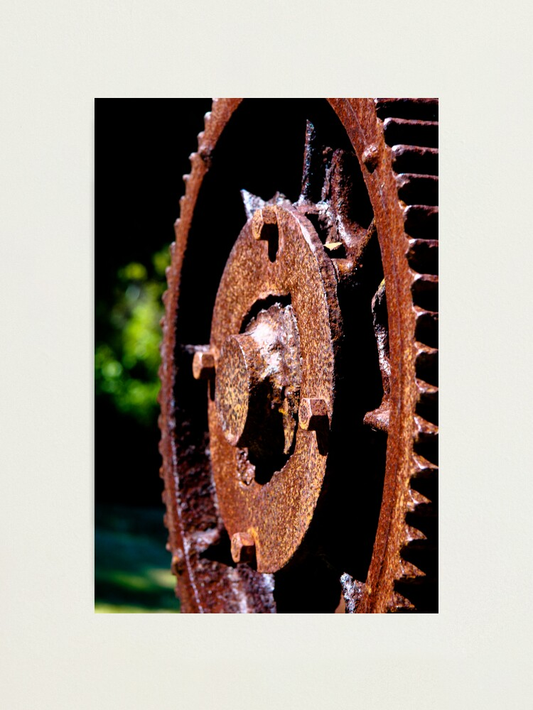 Alternate view of Rusty cog Photographic Print