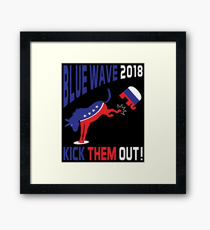 Blue Wave 2018 Kick Them Out Framed Print