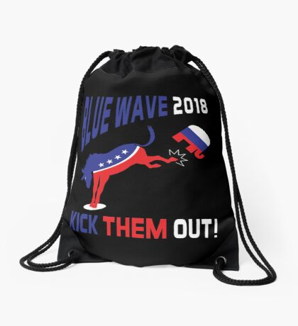 Blue Wave 2018 Kick Them Out Drawstring Bag