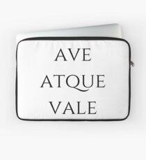Ave Atque Vale Laptop Sleeve
