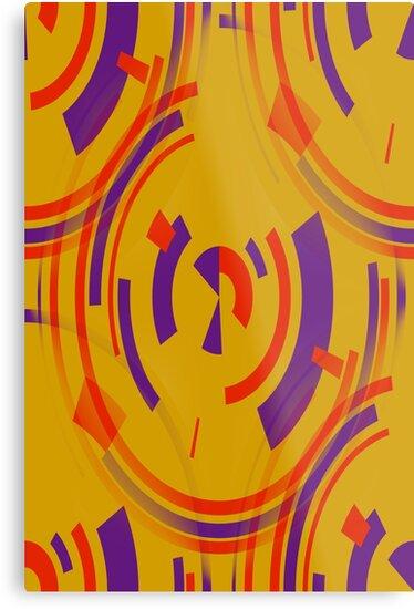 Golden Ovals Red Purple Wrapper by Joy Watson