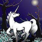 Magical Unicorn in the Woods by sienebrowne