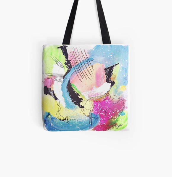Color Twisted #11 Allover-Print Tote Bag