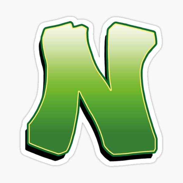 Letter N - Green Sticker