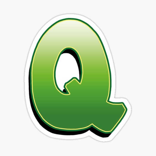 Letter Q - Green Sticker