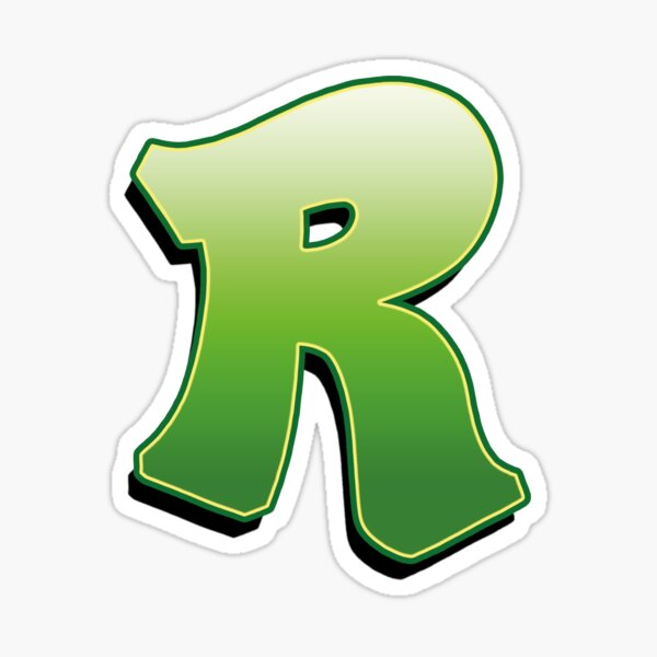 Letter R - Green Sticker