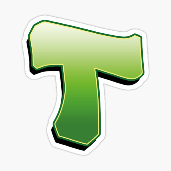 Letter T - Green Sticker