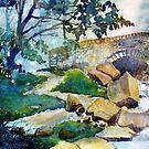 Bridge over Hebden Gill by Glenn  Marshall