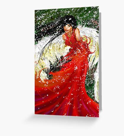 Christmas Already?: Angel Snow Greeting Card