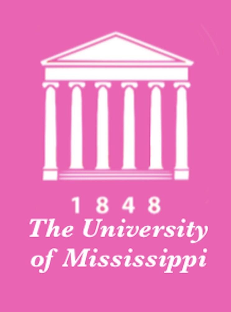 Ole Miss Lyceum Logo (pink) by haleytyrrell