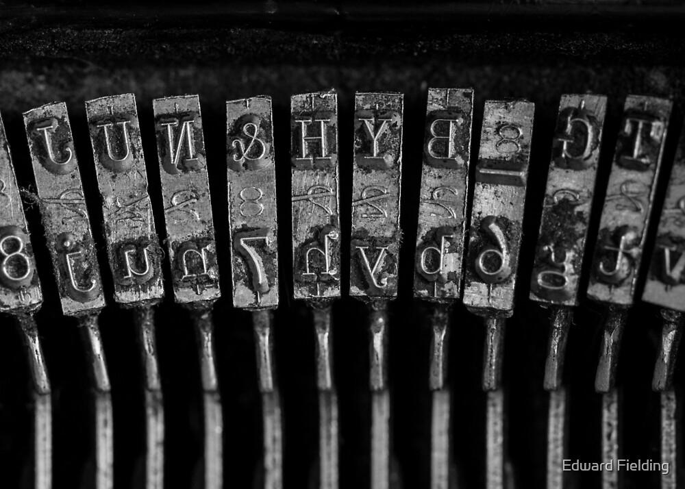 Vintage Typewriter Keys by Edward Fielding