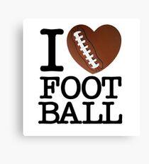 I Heart Football Canvas Print