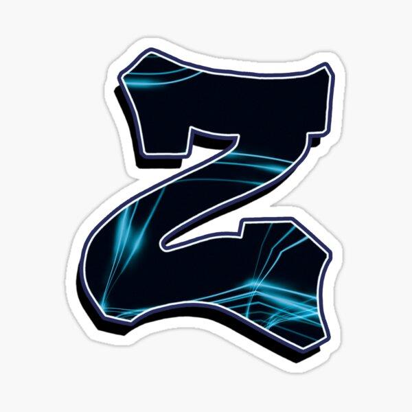 Letter Z - Black/Blue lines Sticker