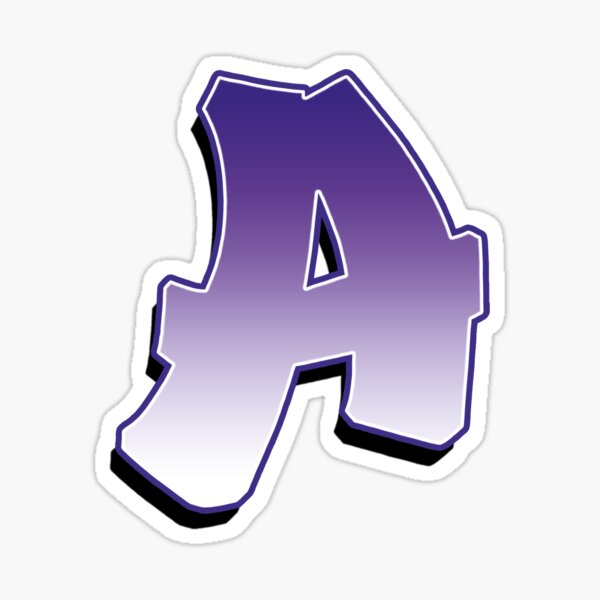 Letter A - Purple Sticker