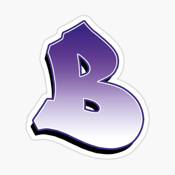 Letter B - Purple  Sticker
