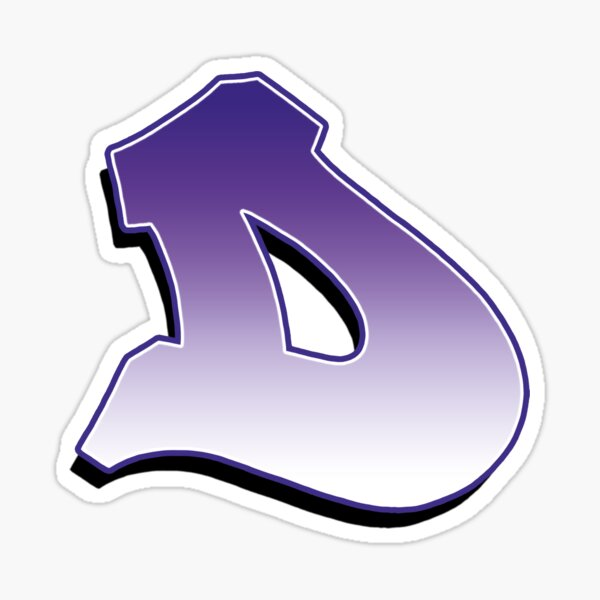 Letter D - Purple Sticker