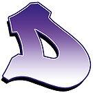 Letter D - Purple by paintcave