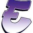 Letter E - Purple by paintcave