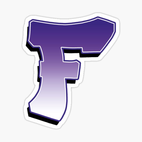 Letter F - Purple Sticker
