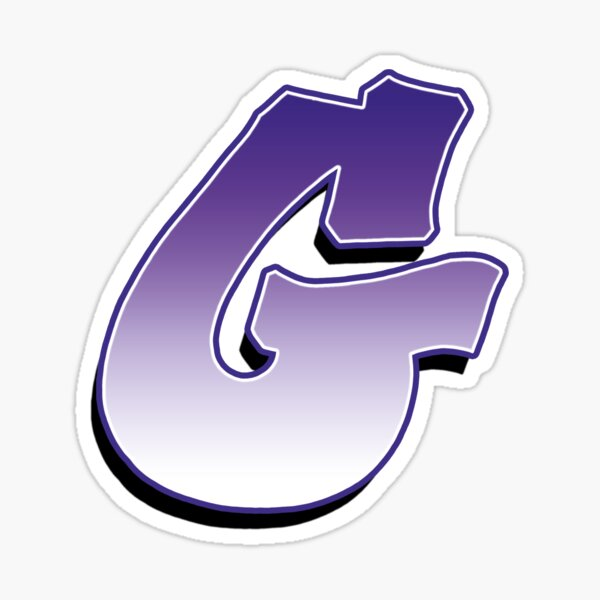 Letter G - Purple Sticker