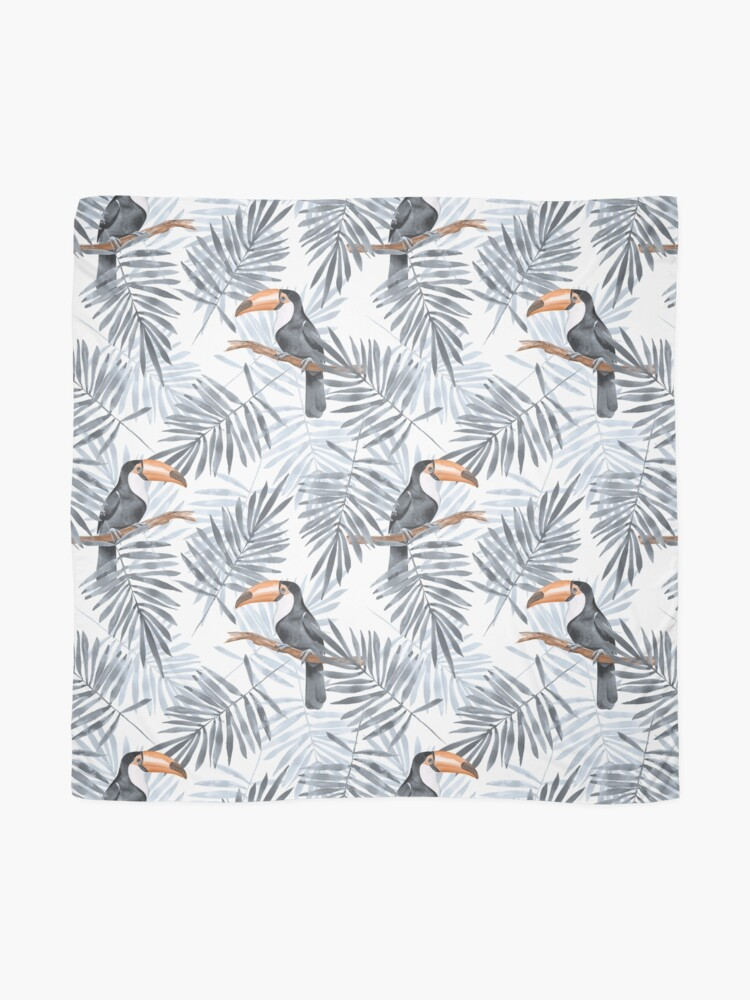 Alternate view of Palm leaves and Toucan Scarf