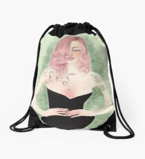 Peach Drawstring Bag