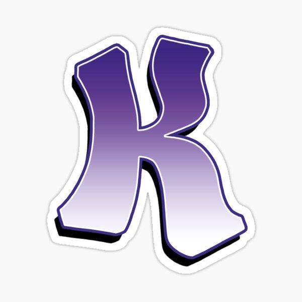 Letter K - Purple Sticker