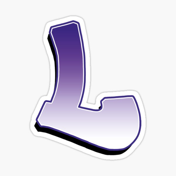 Letter L- Purple Sticker