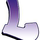 Letter L- Purple by paintcave