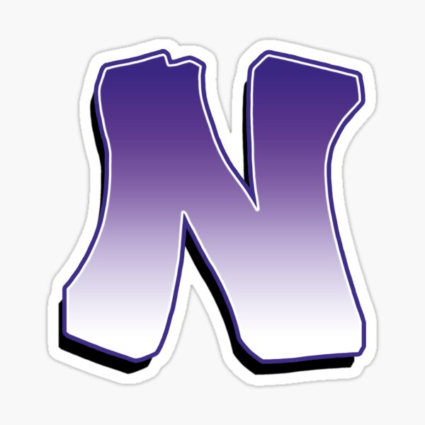 Letter N - Purple Sticker