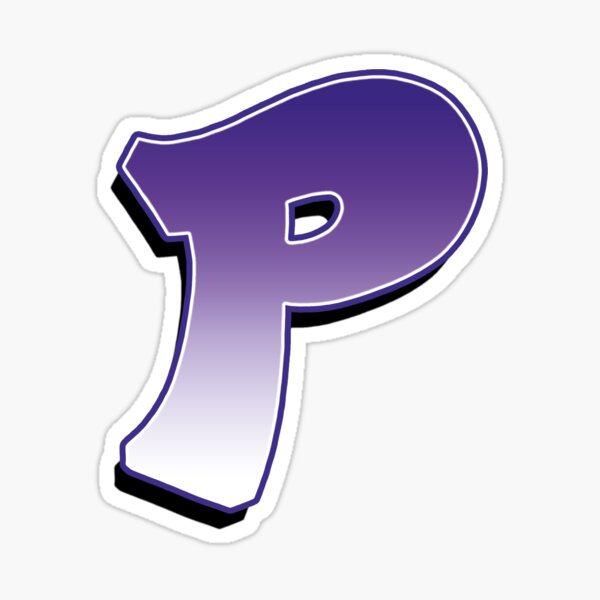 Letter P - Purple Sticker