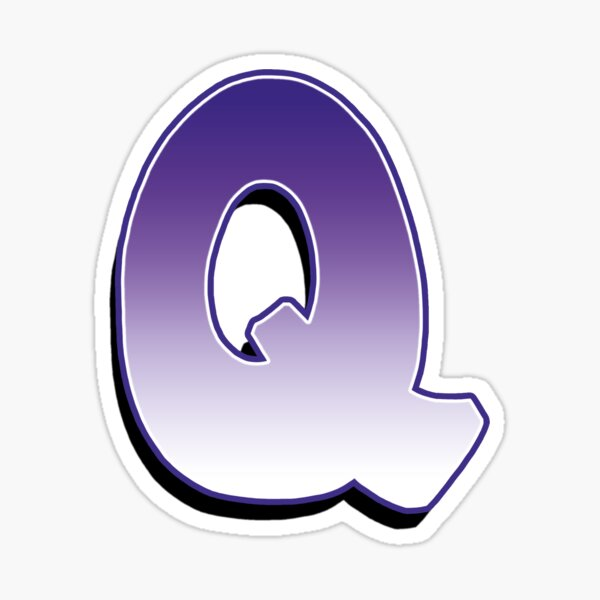 Leter Q - Purple Sticker