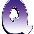 Leter Q - Purple by paintcave