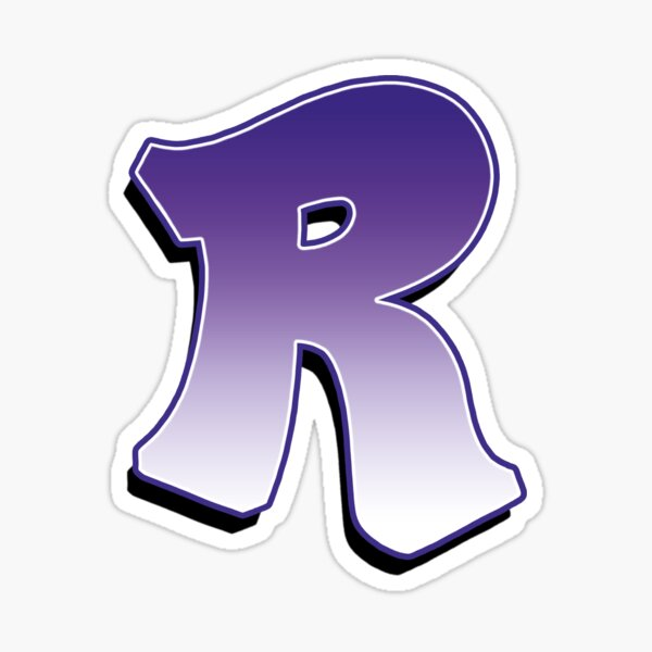 Letter R - Purple Sticker
