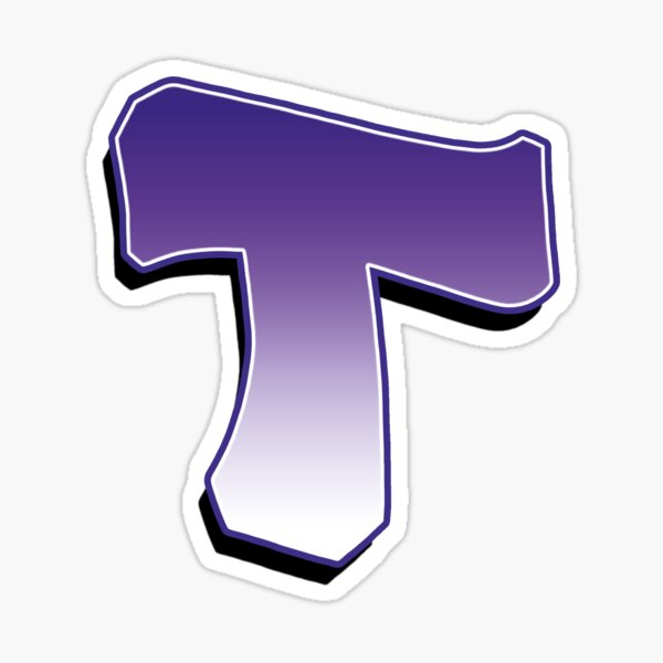 Letter T - Purple Sticker