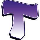 Letter T - Purple by paintcave