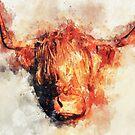 Scottish Highland Cow - Scottish Highland Cattle by Martina Cross