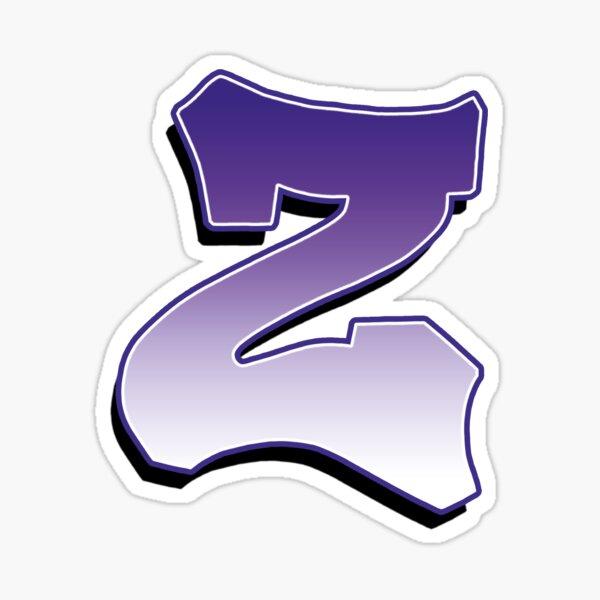 Letter Z - Purple Sticker