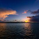 Sunset over Heir Island viewed from Cunnamore pier, Wild Atlantic Way, West Cork, Ireland by Andrew Jones