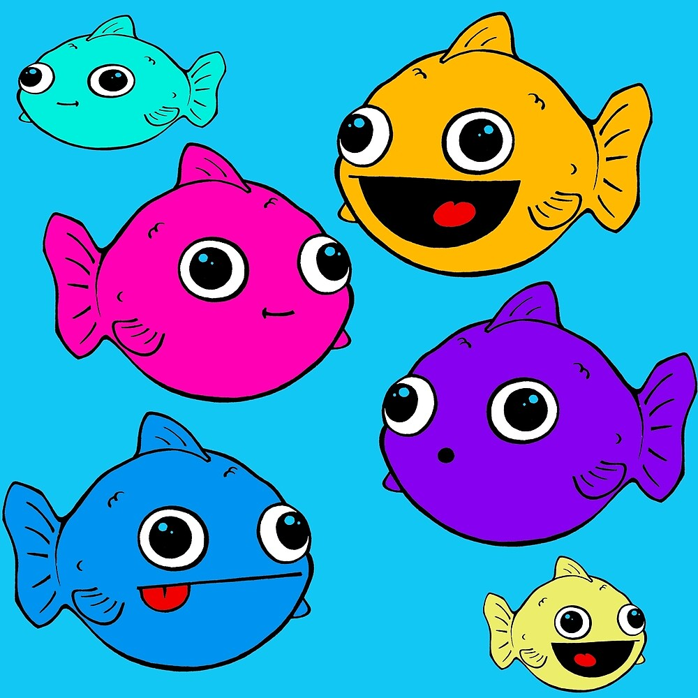 Fishies in the blue by Sallypeep