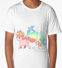 Born A Unicorn Shirt Long T-Shirt