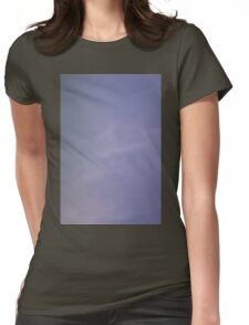 Light blue sky with clouds Womens Fitted T-Shirt