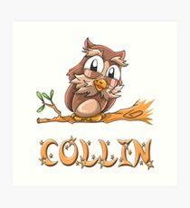 Collin Owl Art Print