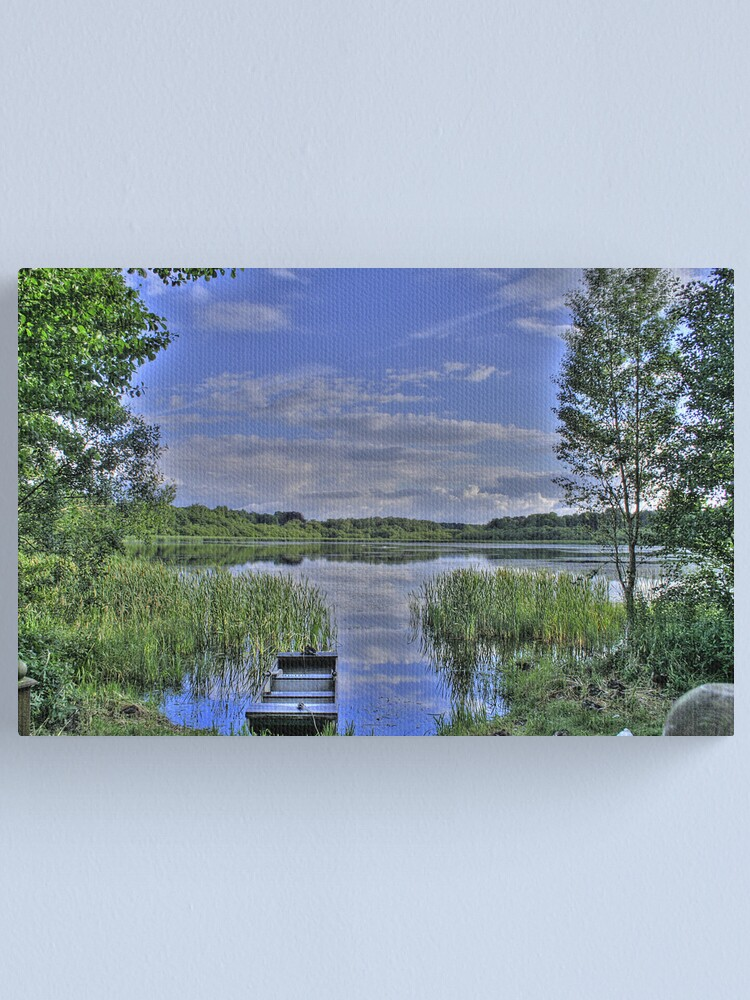 Alternate view of boat and lake in hdr Canvas Print